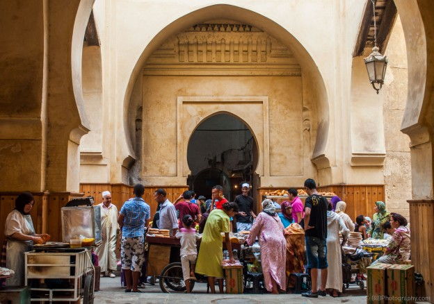 An ordinary day in the old Medina in Fes- Morocco