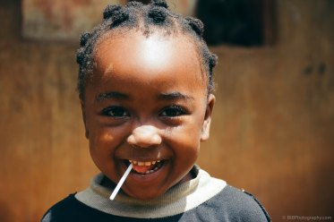 A kid in a village is smiling at me in Bamenda- Cameroon