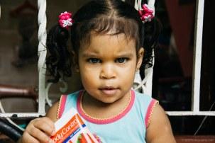 A kid in La Havane is staring at the camera- Cuba